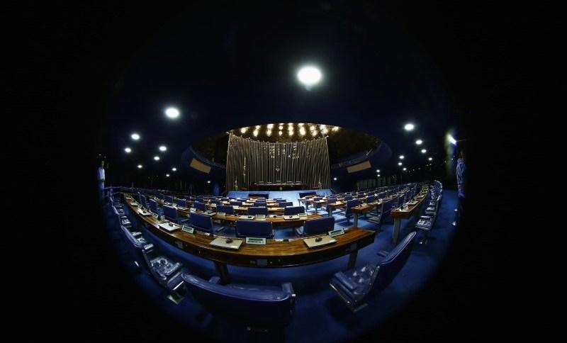 Vista do plenário do Senado, em Brasília