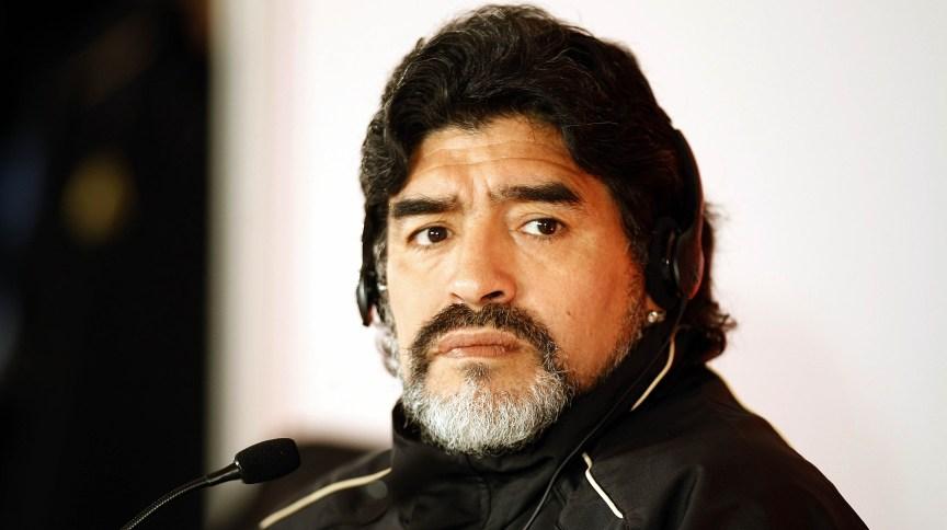 O ex-jogador argentino de futebol, Diego Maradona