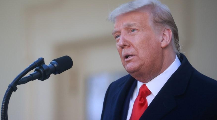 O atual presidente dos EUA, Donald Trump, na Casa Branca