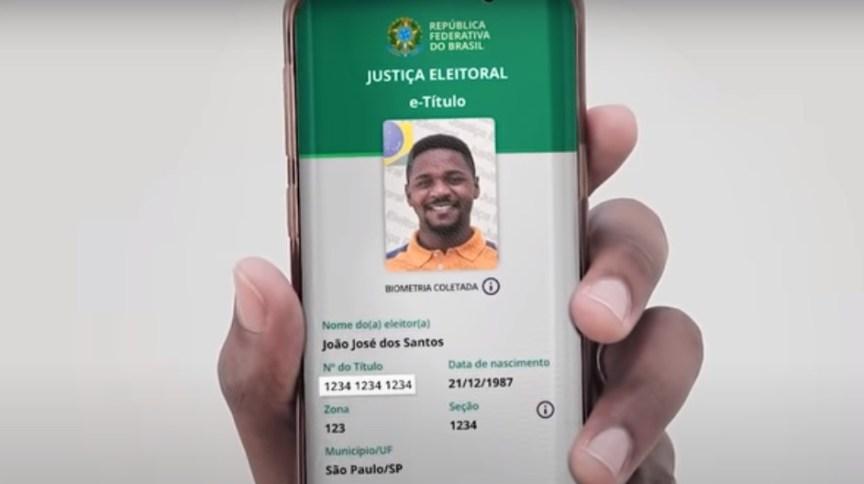 O e-Título pode ser utilizado para se identificar na seção eleitoral, caso o eleitor tenha registrado a biometria