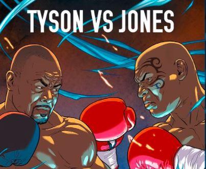 Cartaz da luta entre Mike Tyson e Roy Jones Jr.