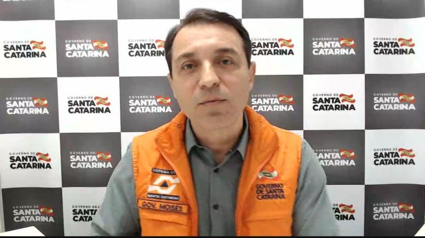 Governador de Santa Catarina, Carlos Moisés (PSL), em entrevista para a CNN