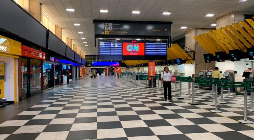 16 terminais serão repassados à iniciativa privada, entre eles o Aeroporto de Congonhas (foto)