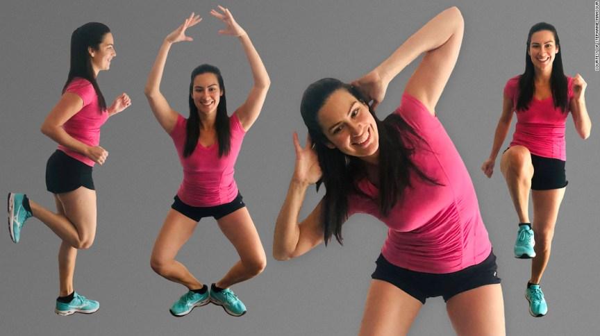 Stephanie Mansour ensina exercícios leves para fazer em casa
