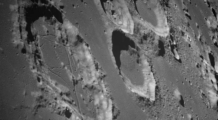 Visão da Goclenius e de outras crateras da Lua