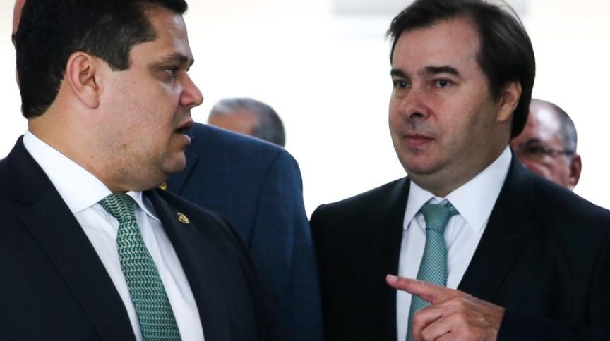 Os presidentes atuais das duas casas: do Senado, Davi Alcolumbre, e da Câmara dos Deputados, Rodrigo Maia