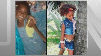 As primas Emily e Rebeca, de 4 e 7 anos de idade, foram baleadas quando brincavam na porta de casa
