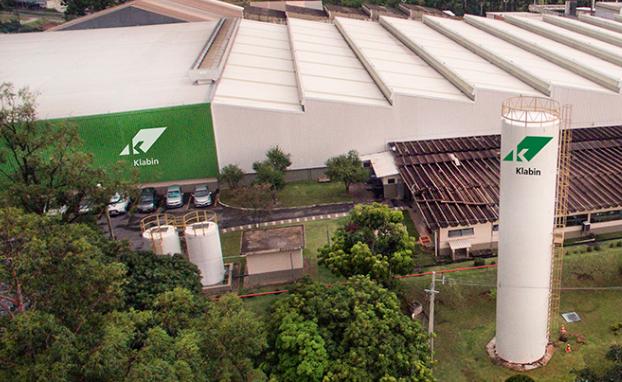 Planta da Klabin em Betim, Minas Gerais:assembleia de acionistas para deliberar sobre o novo acordo foi convocada para até 15 de dezembro