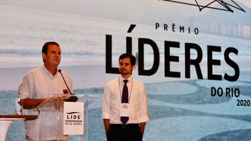 O prefeito eleito do Rio de Janeiro, Eduardo Paes (DEM), e o deputado estadual Chicão Bulhões (Novo)