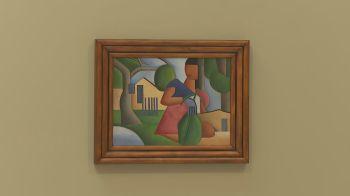 """Após apenas 15 minutos de leilão, o quadro """"A Caipirinha"""", pintado por Tarsila do Amaral (1886-1973) em 1923, foi vendido a um colecionador"""
