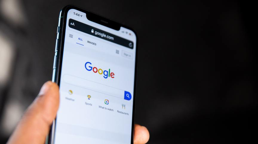 Página de busca no Google