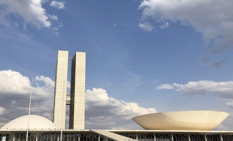 Fachada do Congresso Nacional, com o Senado e a Câmara dos Deputados, em Brasília