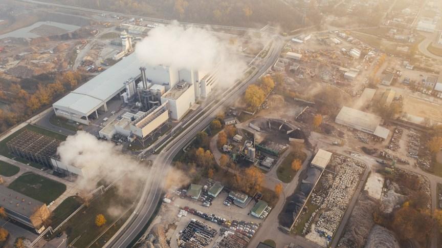 Poluição em área urbana