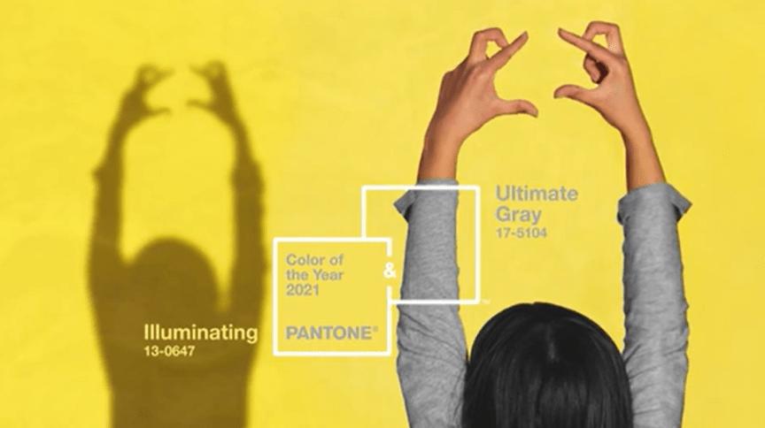 A Pantone escolheu o amarelo Illuminating e o cinza Ultimate Gray como as cores de 2021