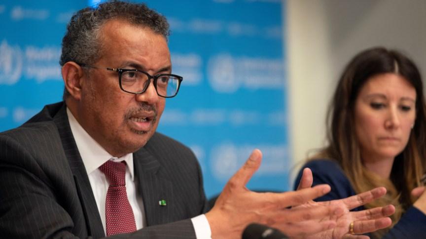 Tedros Adhanom, diretor-geral da OMS, durante entrevista coletiva em Genebra