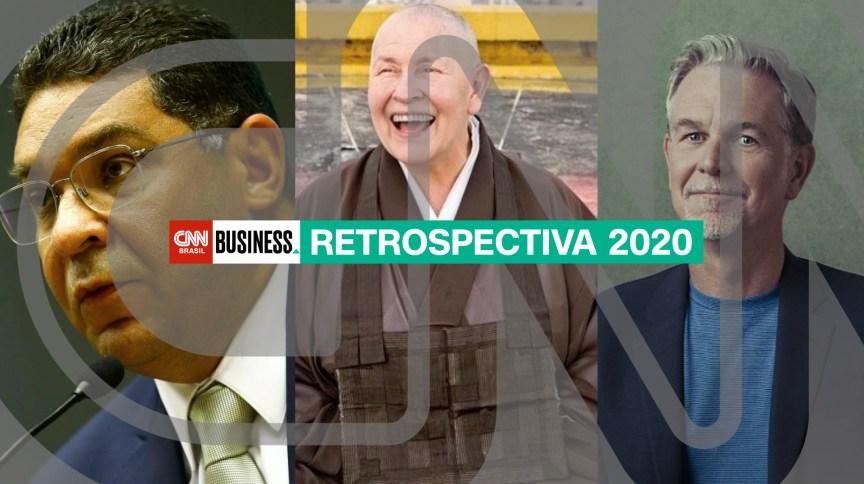 Esq. p/ dir.: Mansueto Almeida, Monja Coen e Reed Hastings falaram com o CNN Brasil Business em 2020