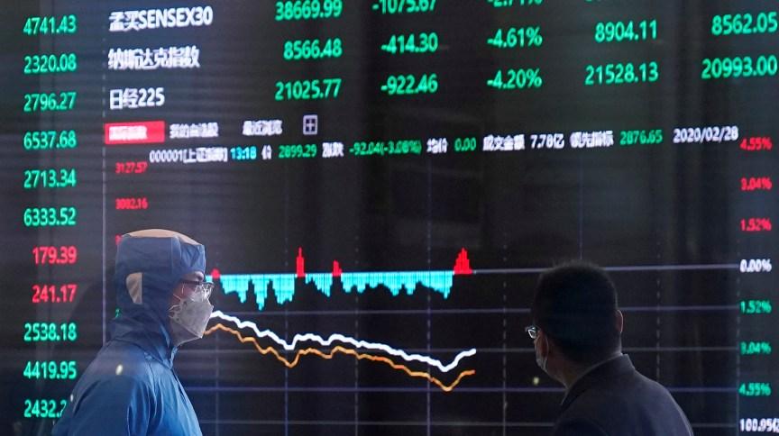 Investidores das bolsas asiáticas apostam em rápida recuperação econômica