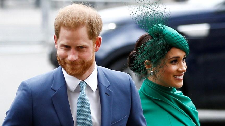 Príncipe Harry e Meghan Markle durante compromisso oficial na Abadia de Westminster