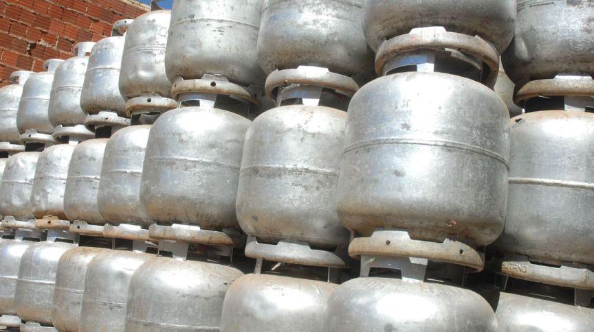 Botijões de gás liquefeito de petróleo (GLP)