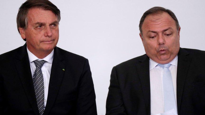 Presidente Jair Bolsonaro e ministro da Saúde, Eduardo Pazuello