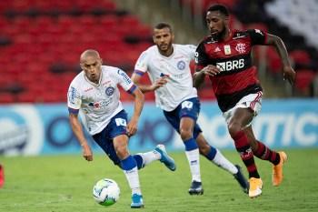 Gerson denunciou o colombiano Juan Pablo Ramirez, do Bahia, por injúria racial, após a vitória do Flamengo por 4 a 3