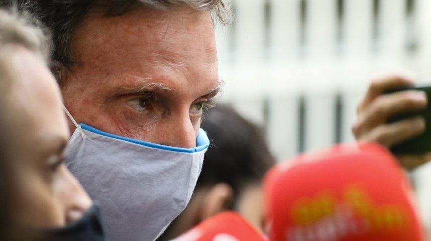 O prefeito do Rio, Marcelo Crivella, conduzido na Cidade da Polícia após ser preso