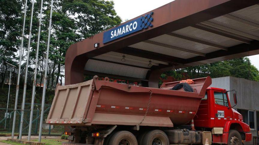 Entrada da mineradora Samarco