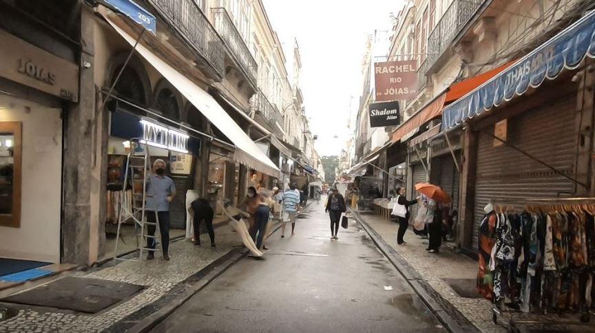 Comércio com movimento fraco no Rio de Janeiro