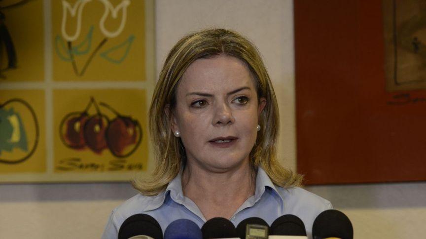 Gleisi Hoffmann, presidente nacional do Partido dos Trabalhadores (PT) (09.out.2018)