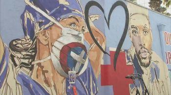 Pintura foi encomendada por uma ONG especializada em obras de arte públicas