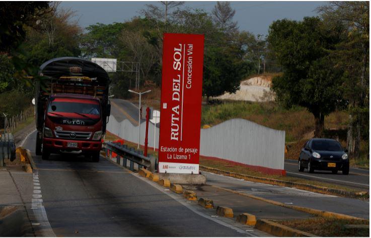 Vista da Ruta del Sol, construção da Odebrecht, em Sabana de Torres, Colômbia