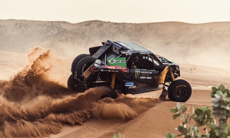 Reinaldo Varela e Mayquel Justo em ação no Rali Dakar na Arábia Saudita
