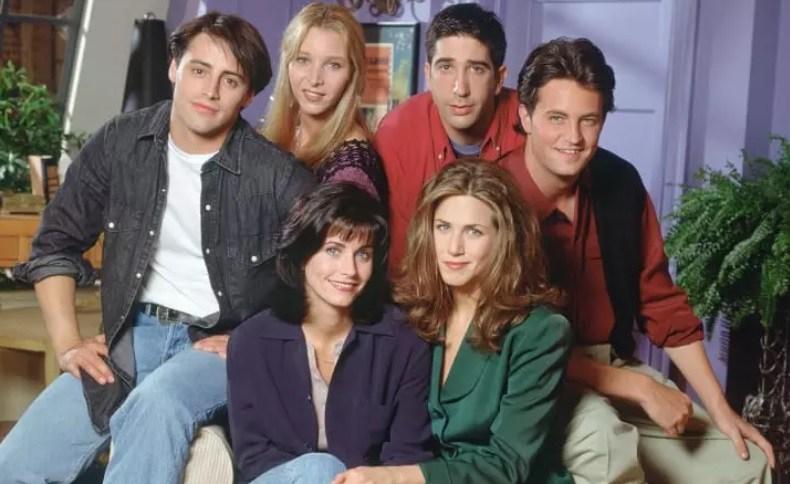 Os protagonistas do seriado Friends