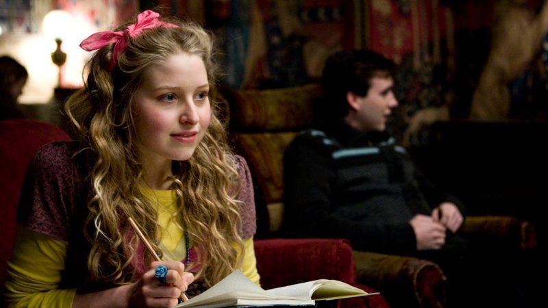 "Jessie Cave como Lilá Brown em ""Harry Potter"""
