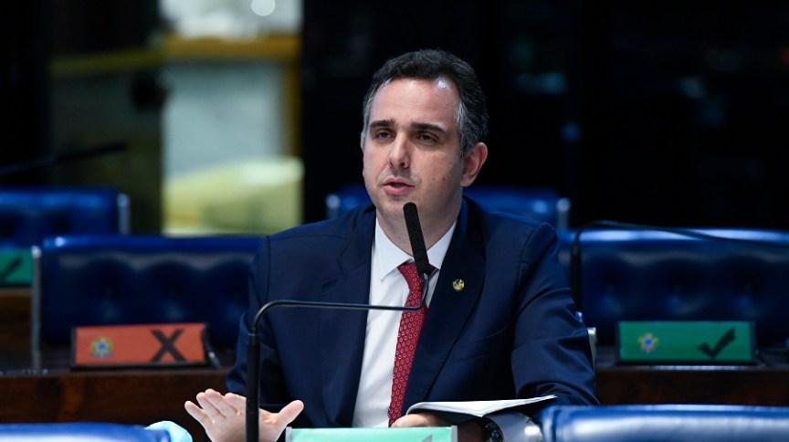 O senador Rodrigo Pacheco: novo presidente do Senado