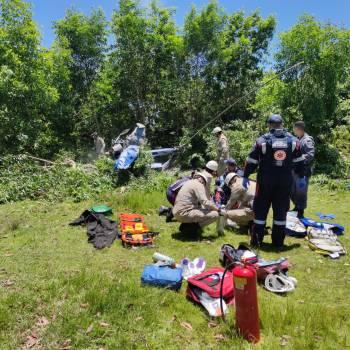 Moradores da região conseguiram retirar vítimas de dentro da aeronave; não houve incêndio