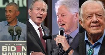 Barack Obama, George W. Bush, Bill Clinton e Jimmy Carter criticaram os invasores que forçaram a evacuação dos plenários no Capitólio