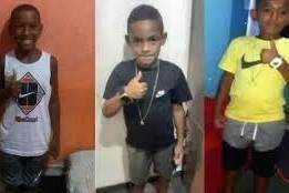 Lucas Matheus, de 8 anos, Alexandre da Silva, 10, e Fernando Henrique, 11, desapareceram no dia 27 de dezembro em Belford Roxo quando saíram para brincar