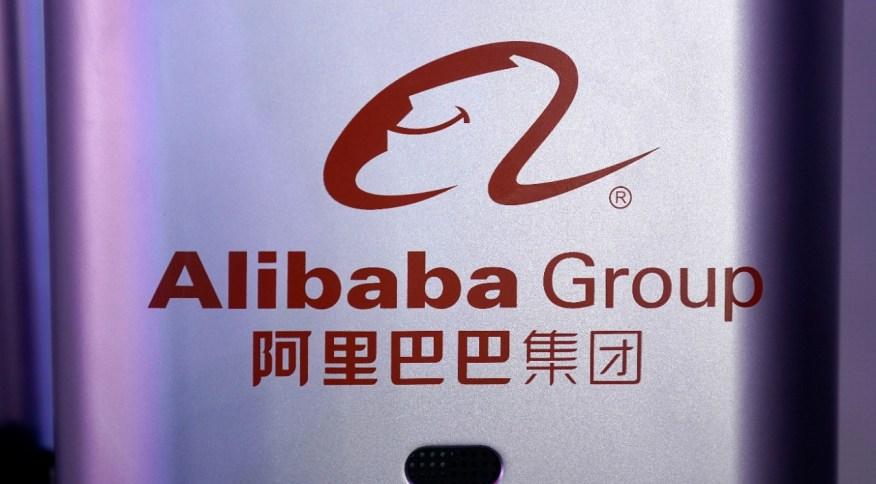 Logo do grupo Alibaba em evento em Hangzhou, Província de Zhejiang, China 10/11/2020