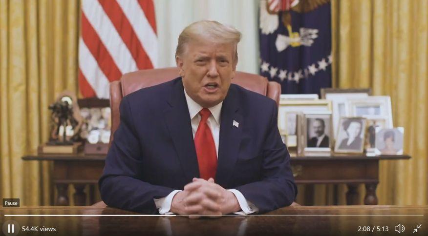 Donald Trump faz pronunciamento da Casa Branca (13.jan.2021)