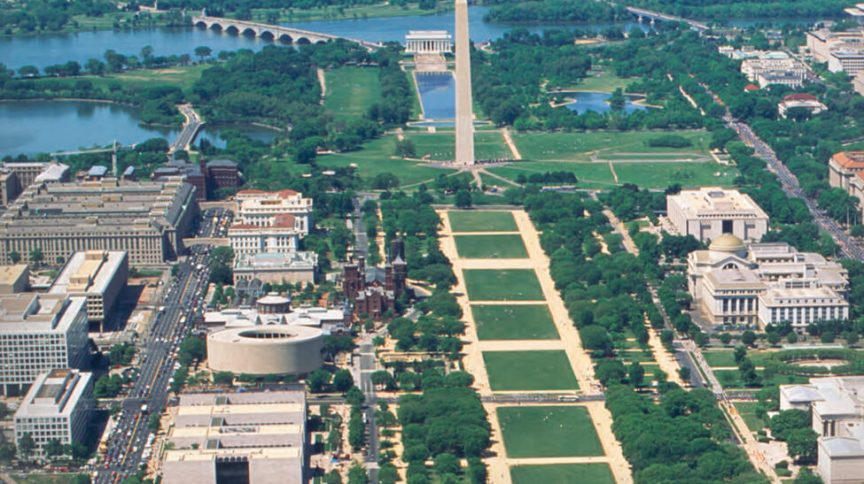 Área do National Mall (Passeio Nacional) em Washington
