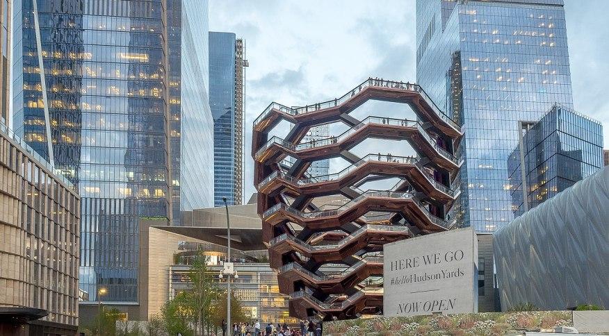 Escadaria Vessel, vista da 11ª Avenida, em Nova York