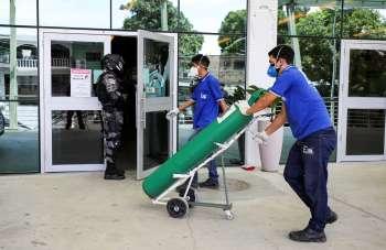 Atualmente, a alíquota é de 18% sobre o oxigênio hospitalar de outros estados ou 7% no produto produzindo dentro do Amazonas