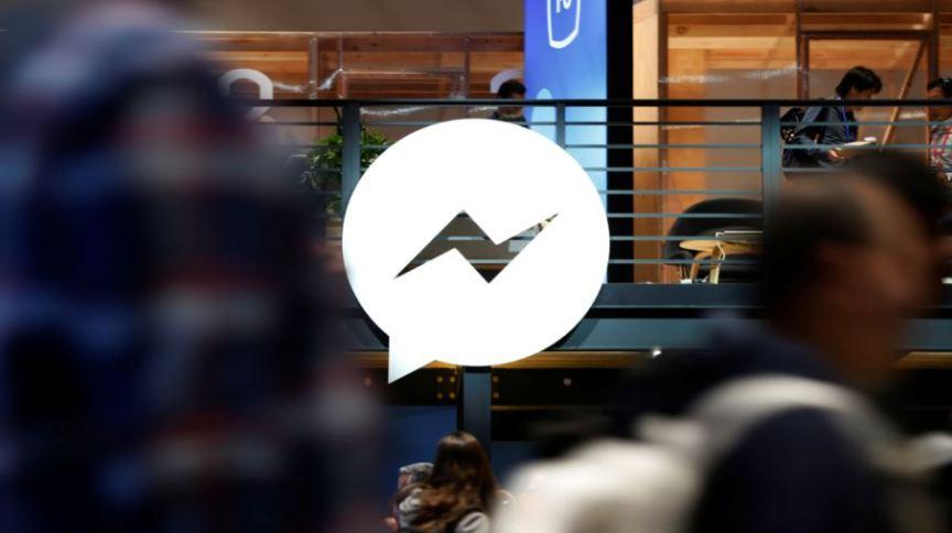 Logo do Facebook Messenger em feira de tecnologia em San Jose, Califórnia (EUA)