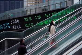 Na China continental, as perdas foram maiores do que em outras partes da Ásia e mais uma vez lideradas por produtoras de carvão