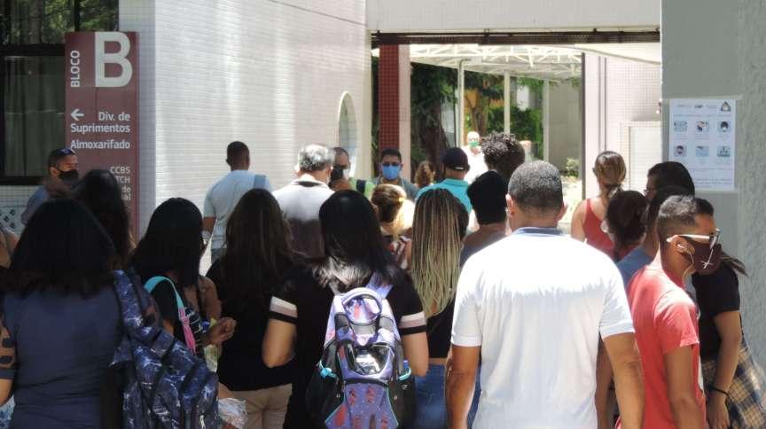 Imagens dos locais de provas do Enem no bairro da Boa Vista, centro do Recife (17.jan.2021)