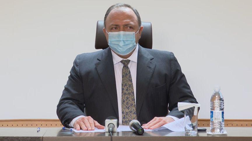 17.jan.2021 - Ministro da Saúde, Eduardo Pazuello