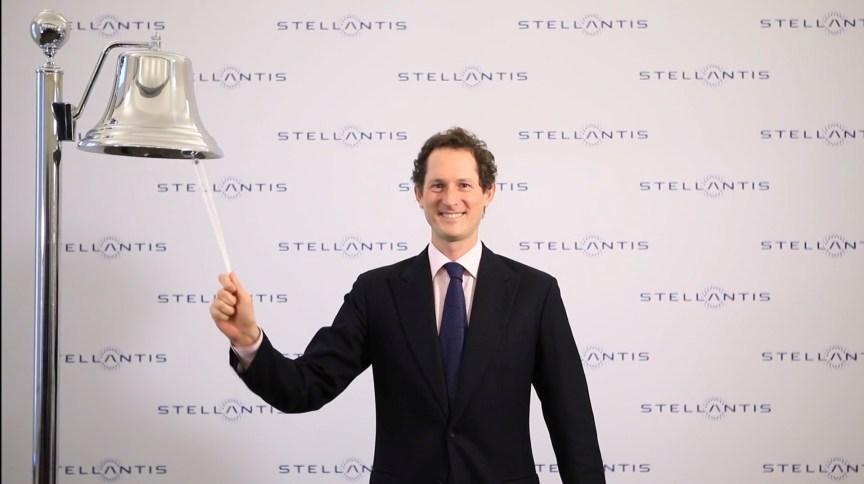 Presidente do conselho de administração da Stellantis, John Elkann, na estreia das ações da montadora resultante da fusão entre Fiat Chrysler e PSA em Milão, Itália. 18/01/2021. Borsa Italiana