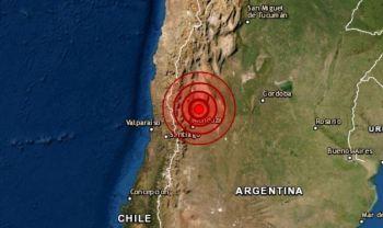 Um tremor de terra na província argentina de San Juan foi sentido em várias regiões do país e no vizinho Chile na noite desta segunda-feira