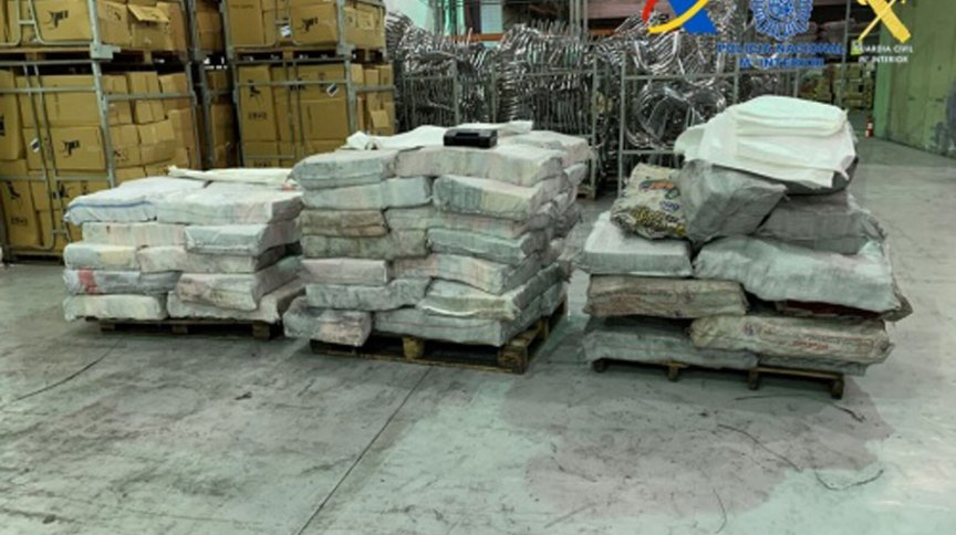 Mais de 2kg de cocaína foi apreendido no porto de Algeciras, no sul da Espanha.